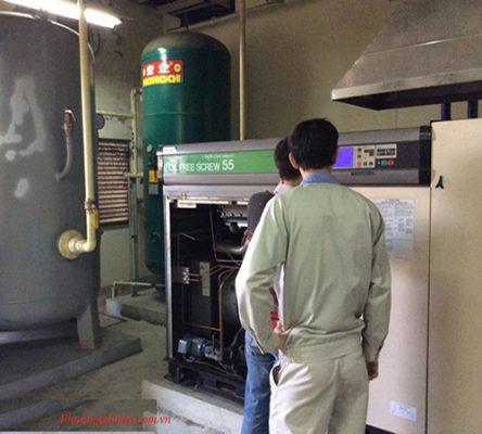Lắp đặt máy nén khí công nghiệp tại Thái Nguyên