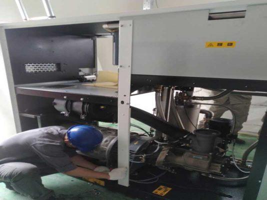 Bảo dưỡng máy nén khí dùng trong thực phẩm y tế sản xuất dược liệu