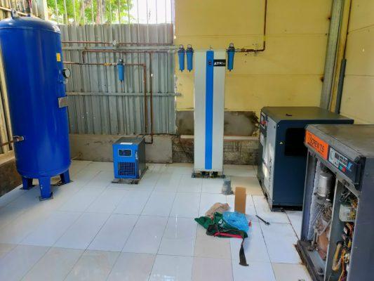 Lắp đặt hệ thống máy nén khí sạch tại Vĩnh Phúc