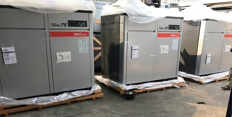 Bán máy nén khí nhật bãi tại khu công nghiệp Quang Minh
