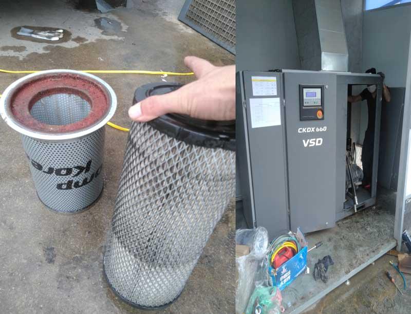 Dịch vụ bảo dưỡng máy nén khí giá rẻ tại Thăng Long 3