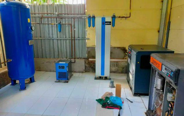 Lắp đặt hệ thống máy nén khí sạch tại Thăng Long 3