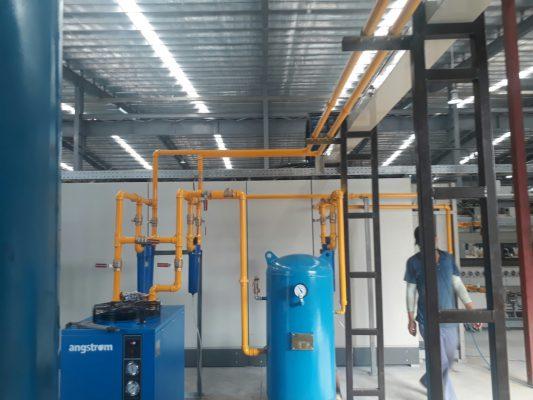Lắp đặt hệ thống máy nén khí sạch tại Khai Quang Vĩnh Yên