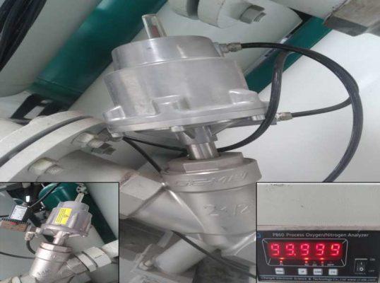 Lắp đặt hệ thống máy nito tại Bá Thiện 1